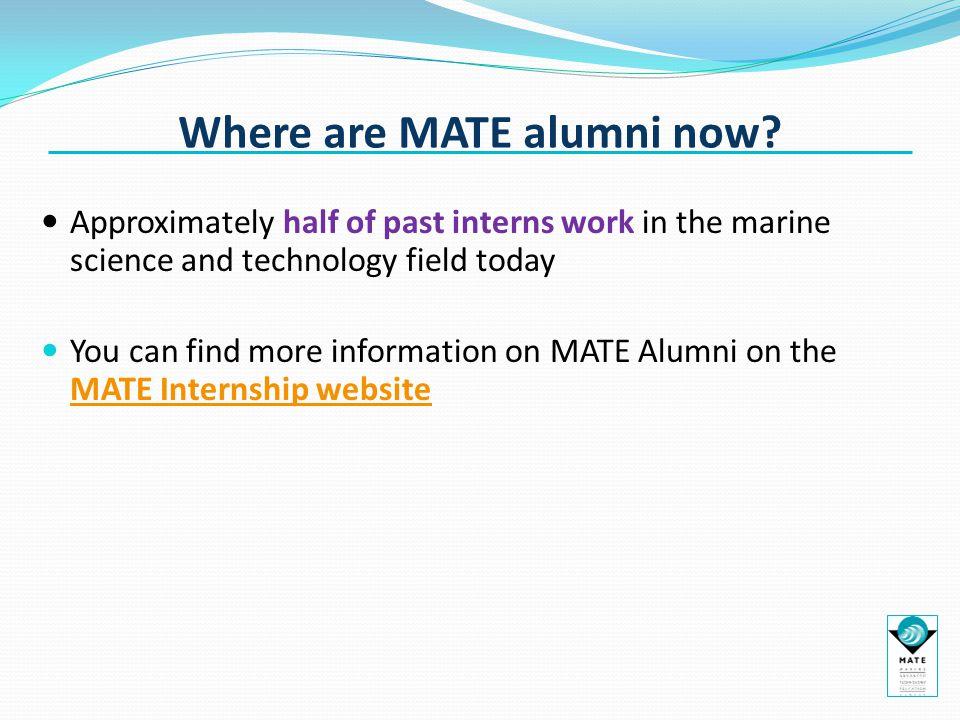 Where are MATE alumni now.