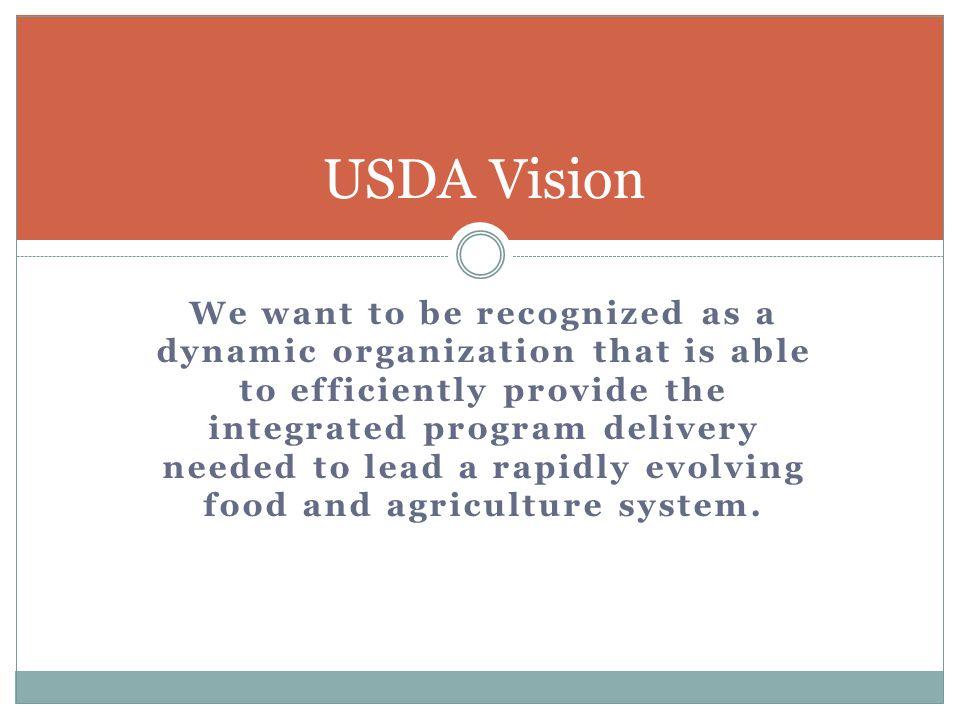 USDA Initiatives