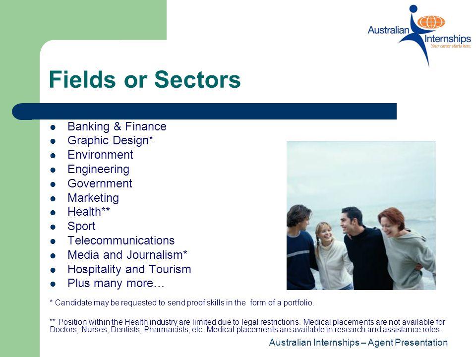 Internship Locations Australian Internships ensures that all internships are arranged in reputable Host Organisations.