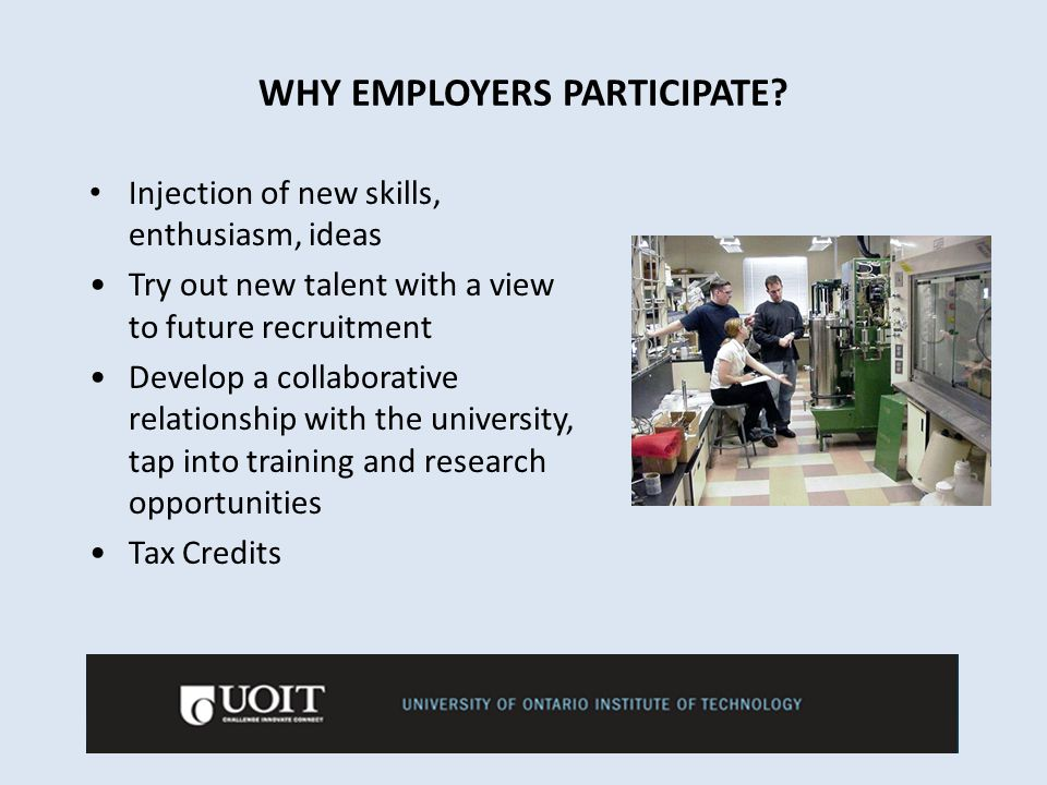 WHY EMPLOYERS PARTICIPATE.