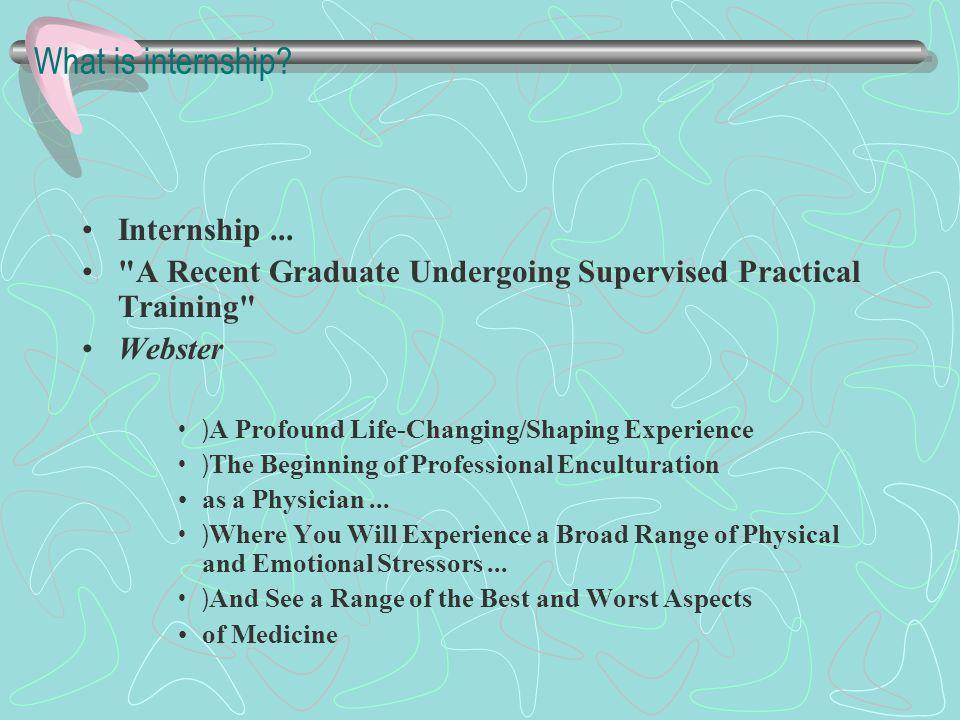 What is internship.Internship...