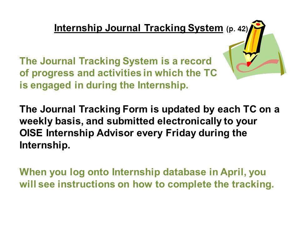 Internship Journal Tracking System (p.