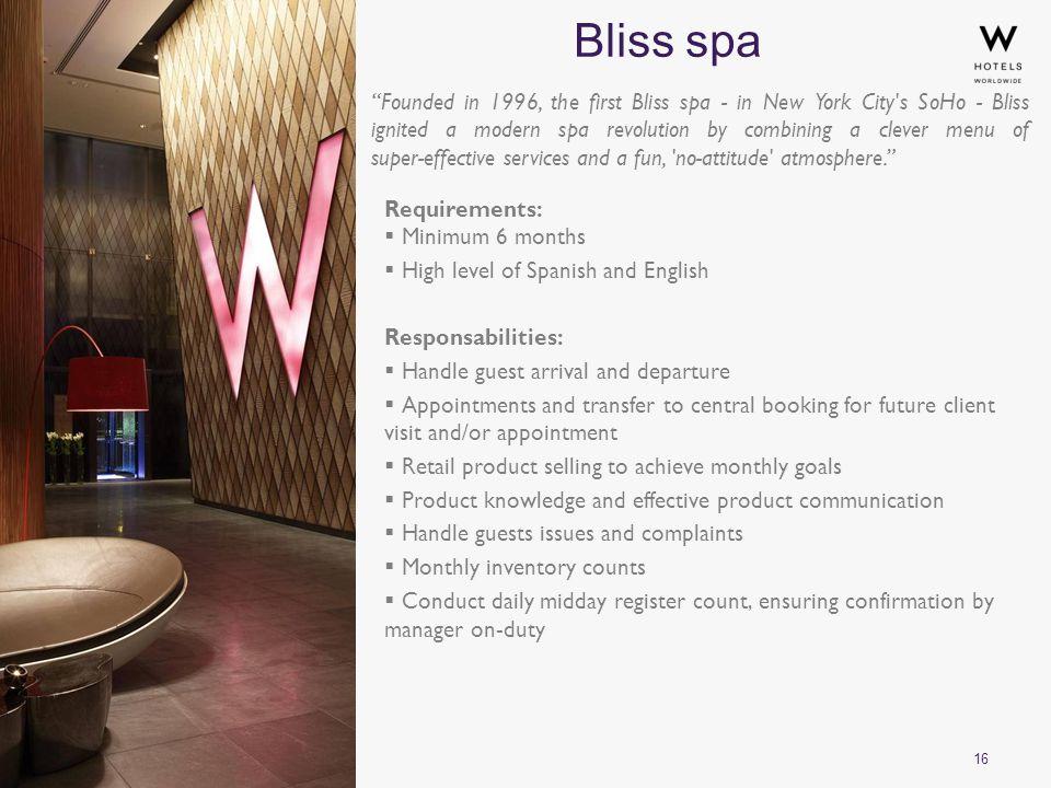 16 Bliss spa ©2010 Starwood Hotels & Resorts Worldwide, Inc.