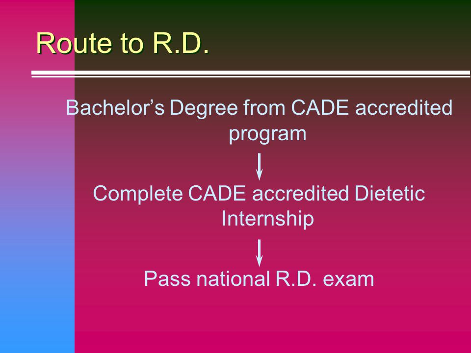All CADE Accredited Internships Provide : n At least 900 hours of supervised practice n Opportunity to demonstrate ability in entry-level Competency Statements