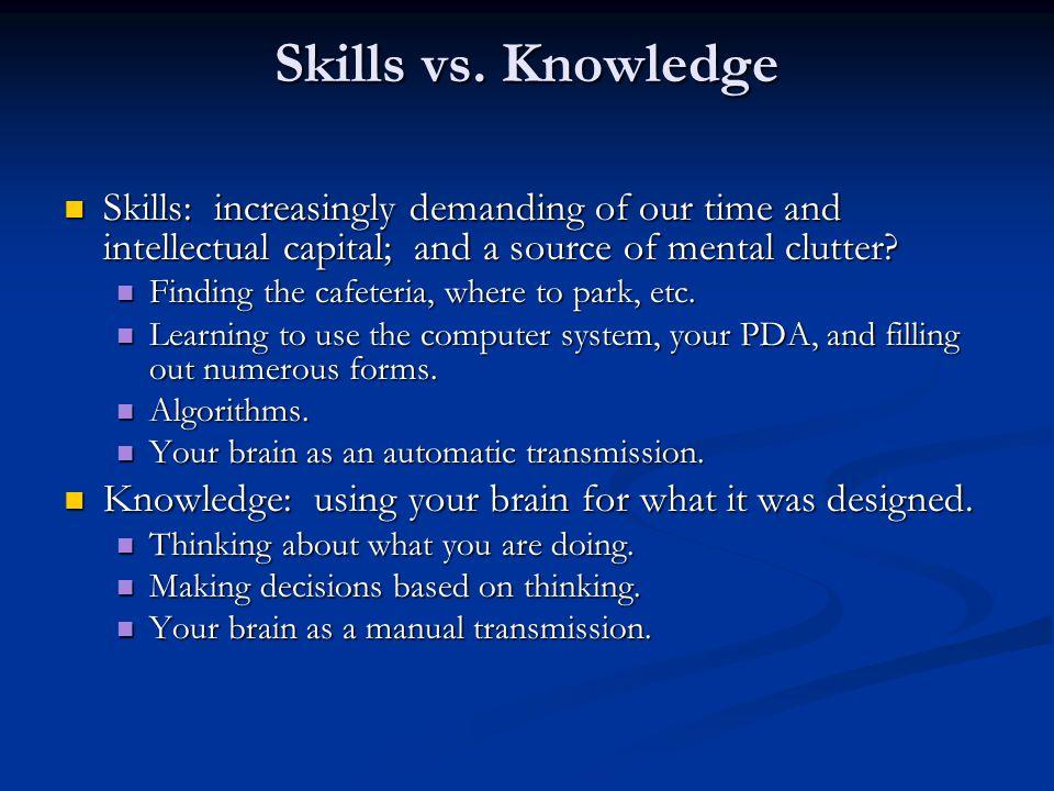 Skills vs.