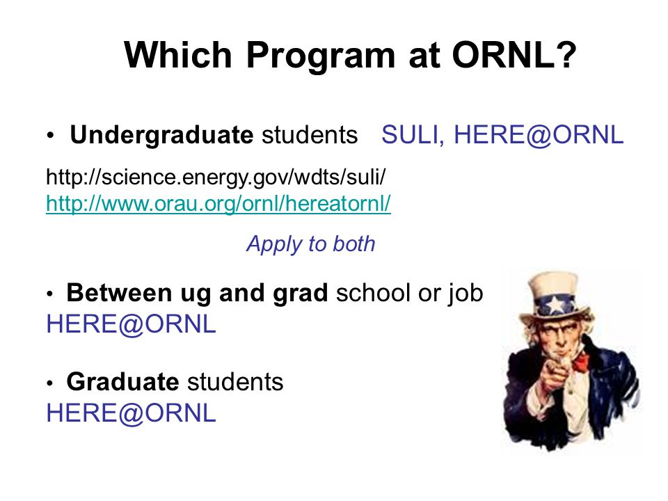 Which Program at ORNL.