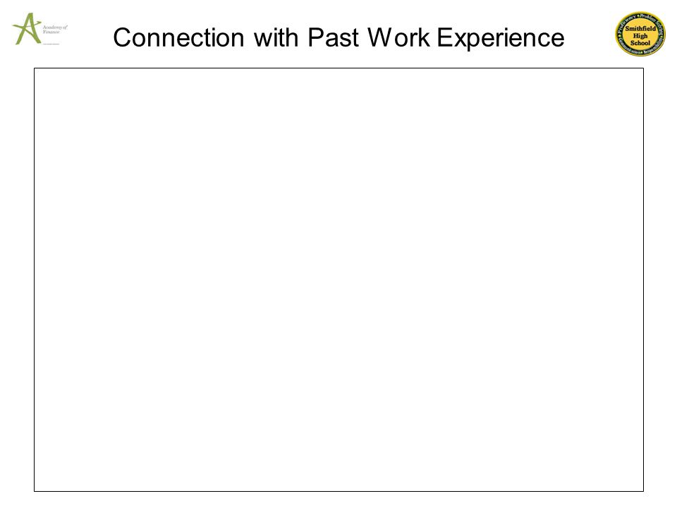 Connection with Past Work Experience