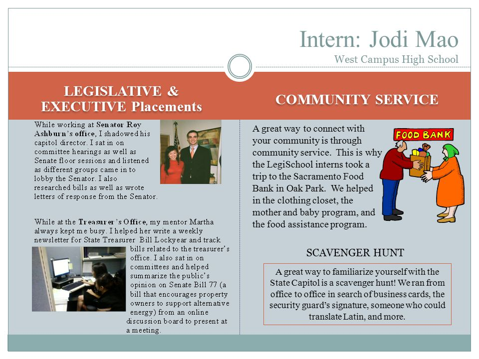 A 2 nd Year Intern's Perspective Interning in the Capitol has been a life-changing experience.