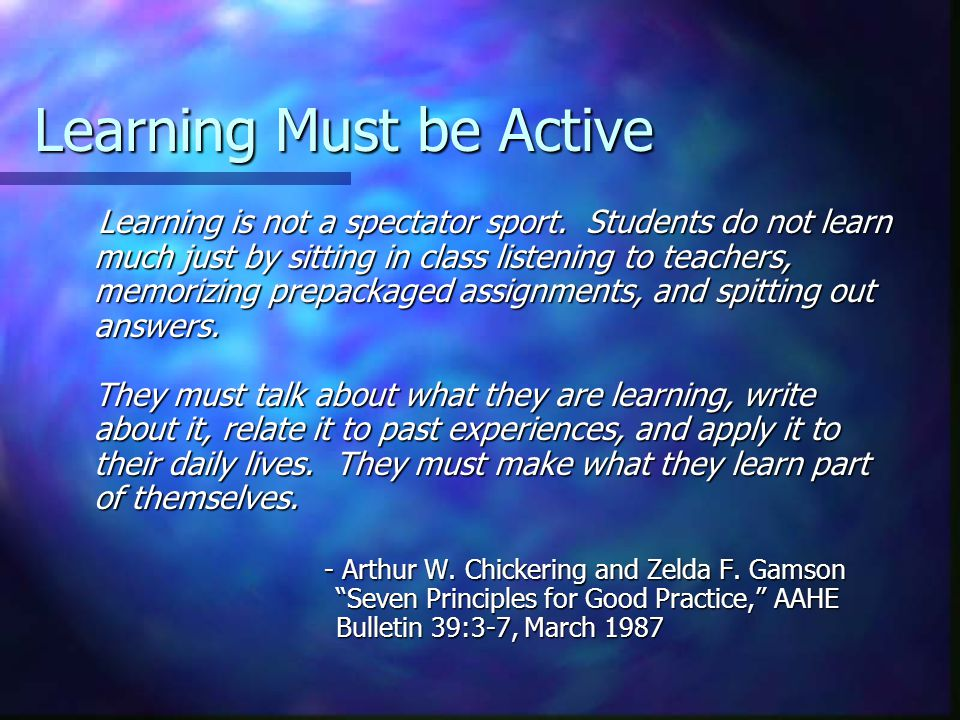 Subsumption Theory …The most important single factor influencing learning is what the learner already knows.