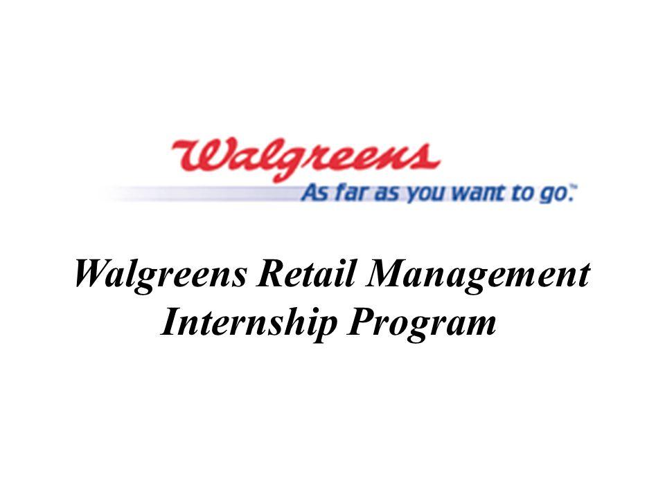 Walgreens Retail Management Internship Program