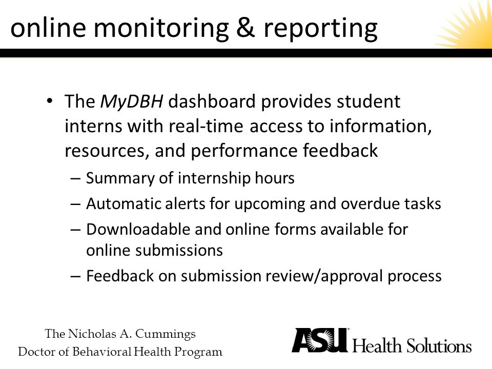The Nicholas A. Cummings Doctor of Behavioral Health Program course management tool Learning Studio
