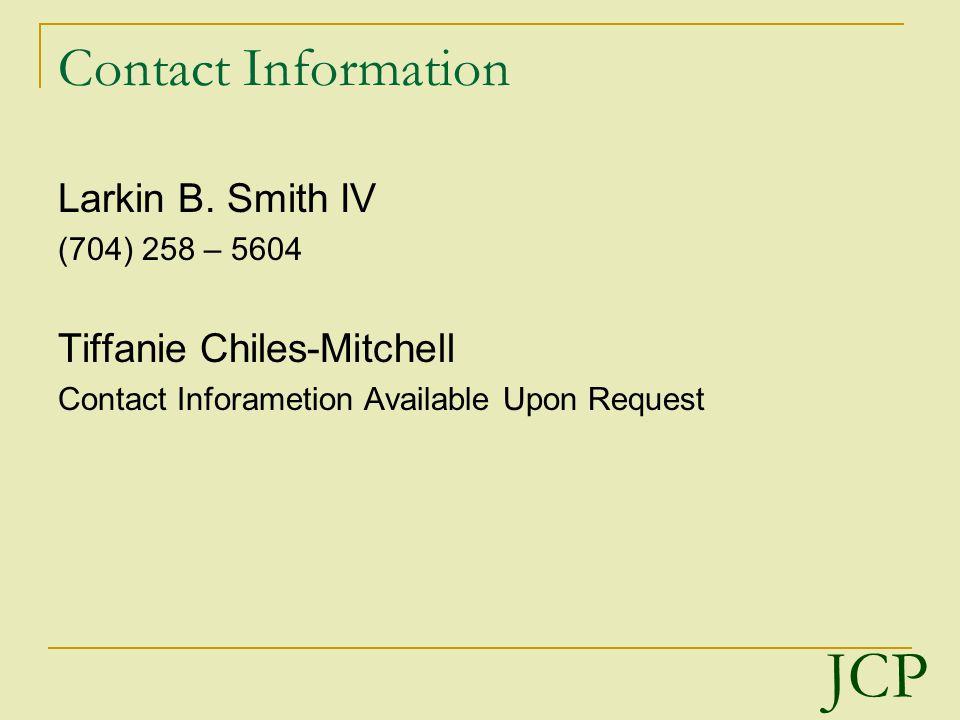 Contact Information Larkin B.