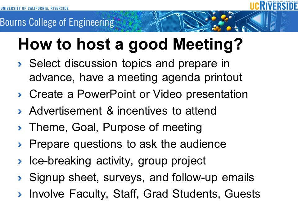 How to host a good Meeting.