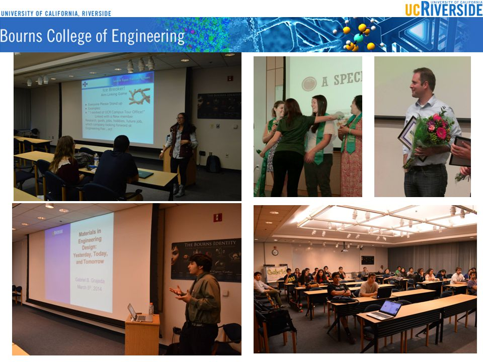 Community Outreach BCoE Engineering Day Thu – Wed, Feb19th, 2015 BCoE 8:00am-1:00pm MESA Day Competition Sat – Feb21st, 2015 BCoE 8:00am-4:00pm MESA Year End Showcase Sat – May 2 ND 2015 8:00am-4:00pm
