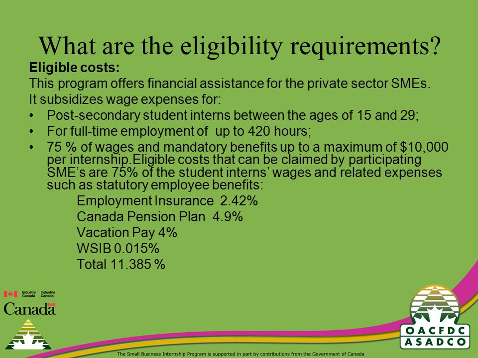 What are the eligibility requirements.