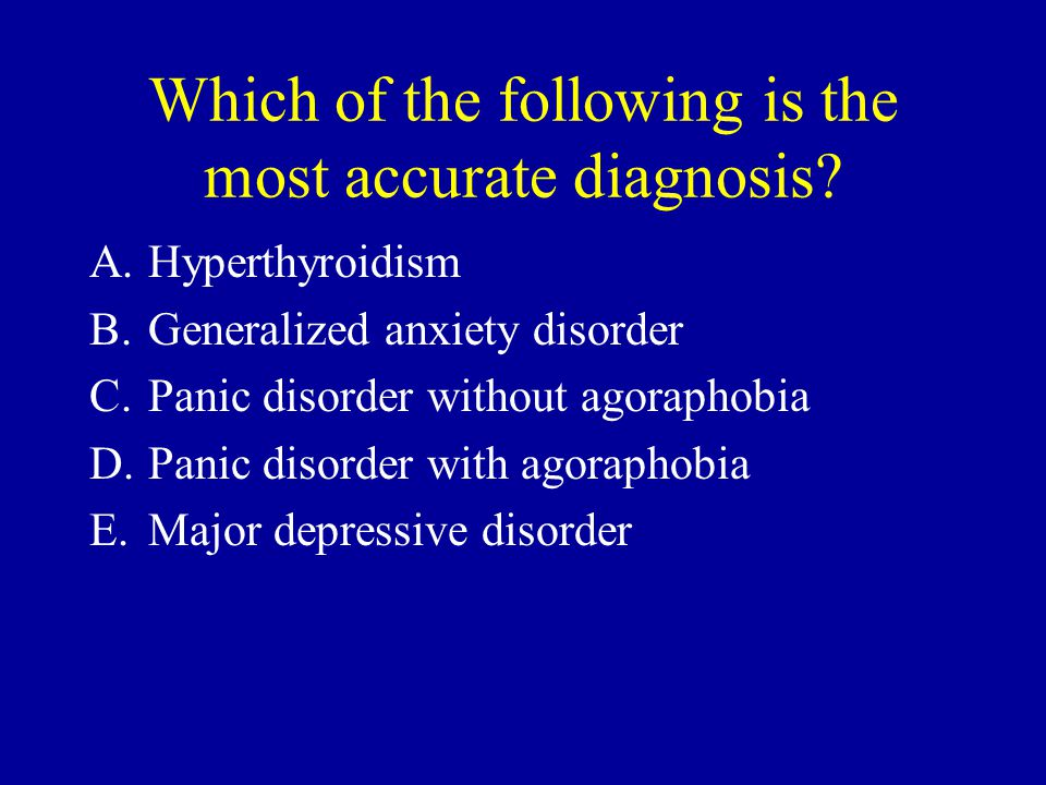 Which of the following is the most accurate diagnosis.