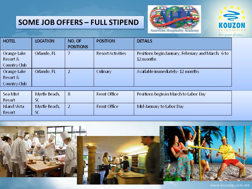 SOME JOB OFFERS – FULL STIPEND