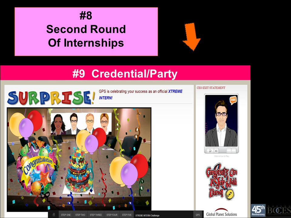 #8 Second Round Of Internships #9 Credential/Party