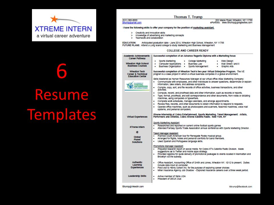 6 Resume Templates