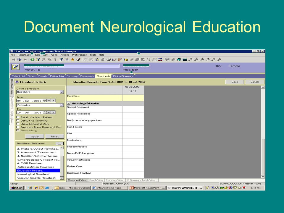 Document Neurological Education