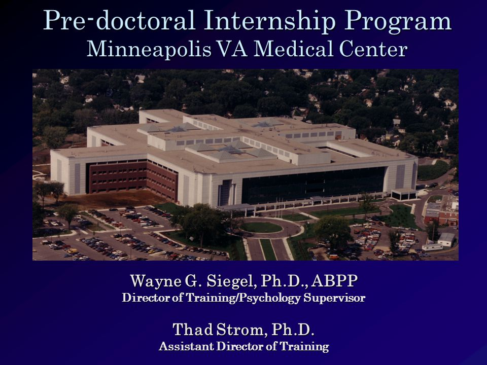 Pre-doctoral Internship Program Minneapolis VA Medical Center Wayne G.