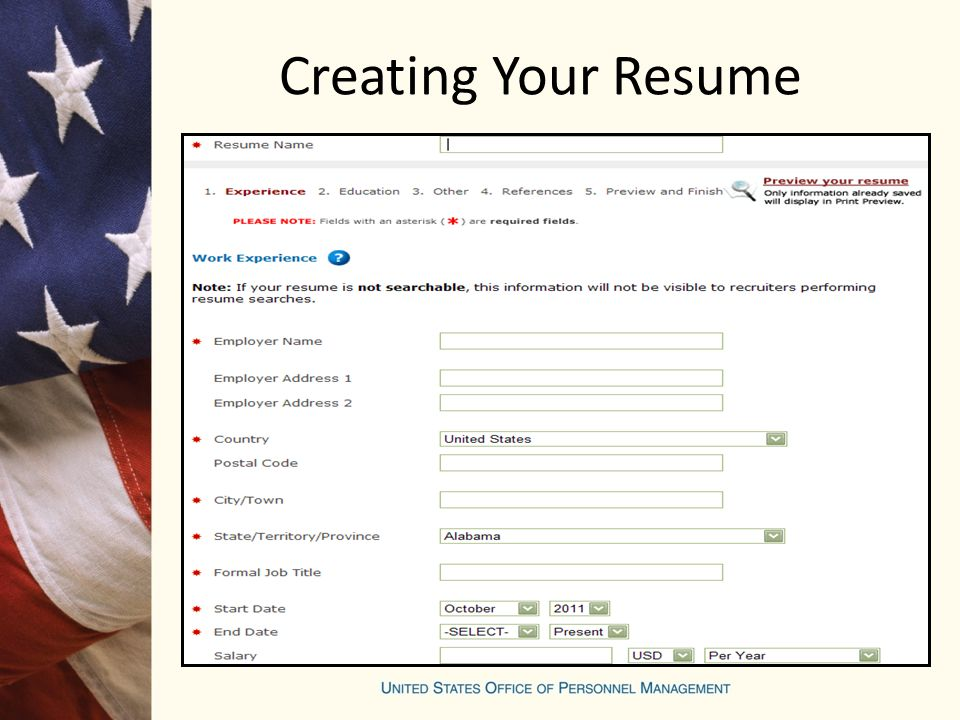 Creating Your Resume