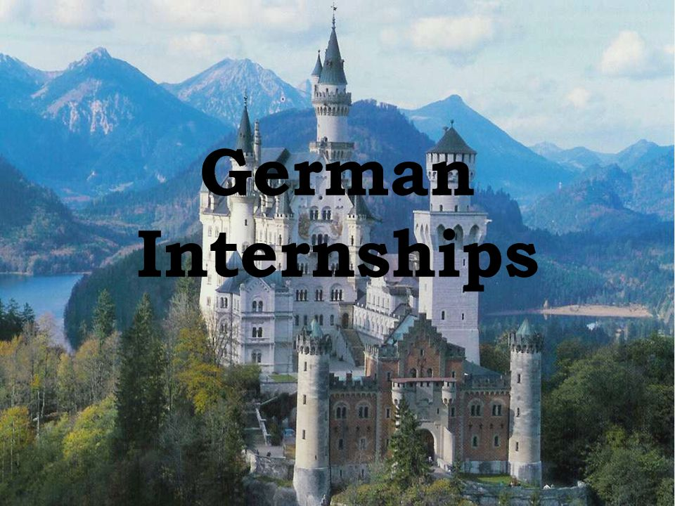 2 Options 1.Placement in an internship based on your skills and goals 2.Take language courses geared towards the work environment, work in a placement based on your skills and goals provided by the Goethe Institute, finish with summative language courses