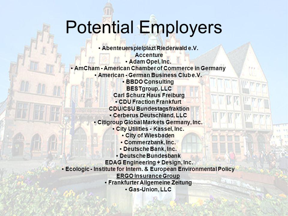 Potential Employers Abenteuerspielplazt Riederwald e.V.