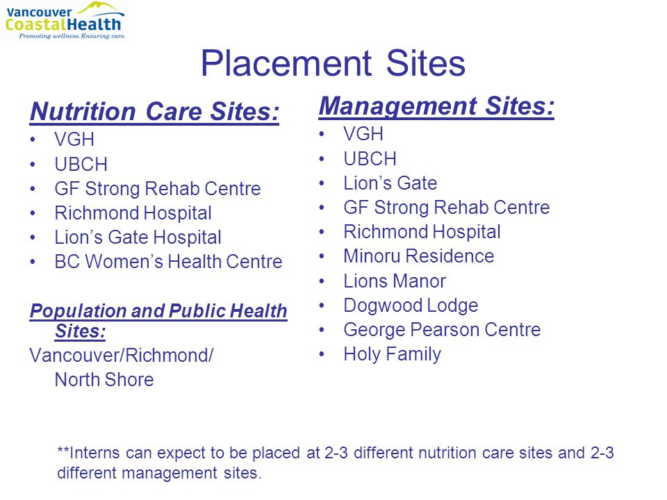 Other Potential Placement Sites Central Island Duncan, Nanaimo, Port Alberni North Island (North of Nanaimo): Campbell River, Comox, Port McNeill and Port Hardy Campbell River Hospital Nanaimo General Hospital St.