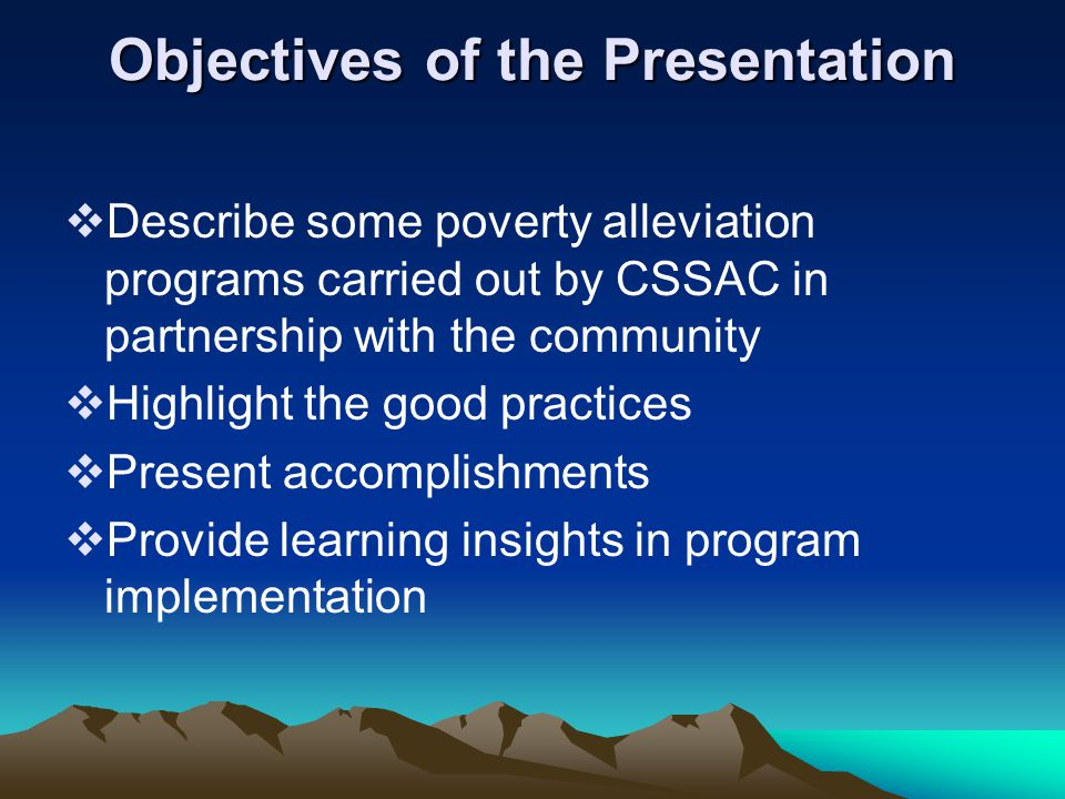 GOOD PRACTICE OPTIONS OF ACADEME – COMMUNITY LINKAGE TOWARDS POVERTY ALLEVIATION* WILFREDO G.