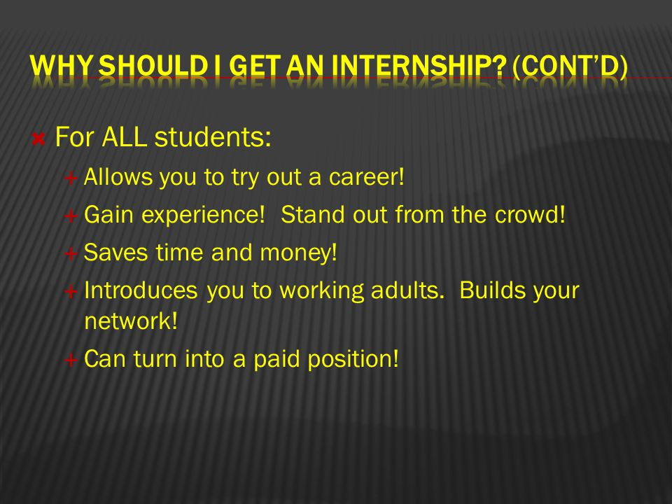  Read through the Internship Handbook, be sure you can make the commitment.