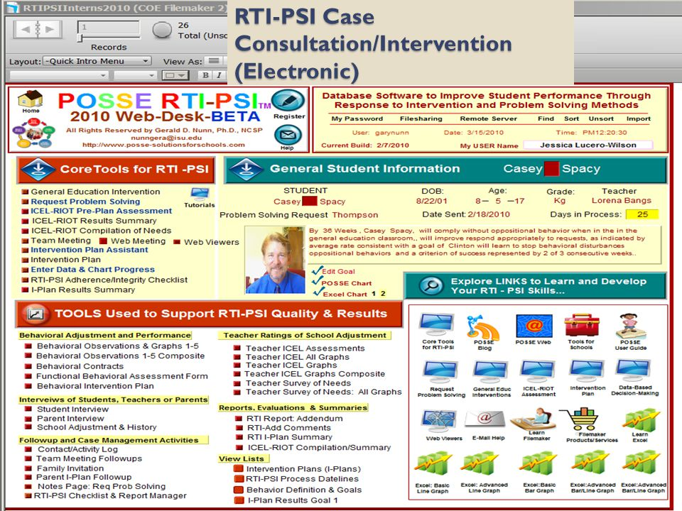 RTI-PSI Case Consultation/Intervention (Electronic)