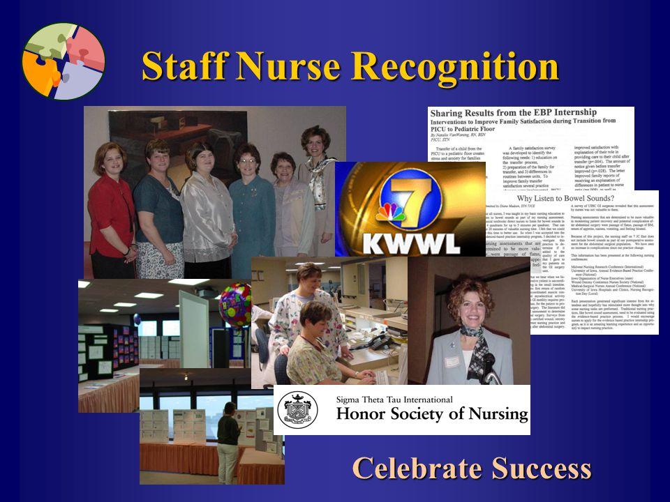 Staff Nurse Recognition Celebrate Success