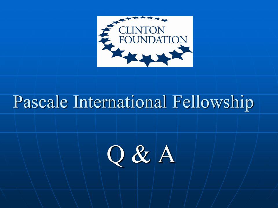 Pascale International Fellowship Q & A