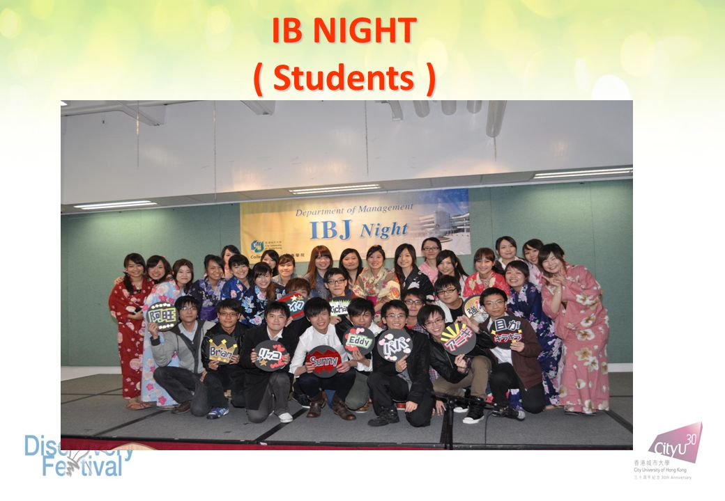 IB NIGHT ( Students )