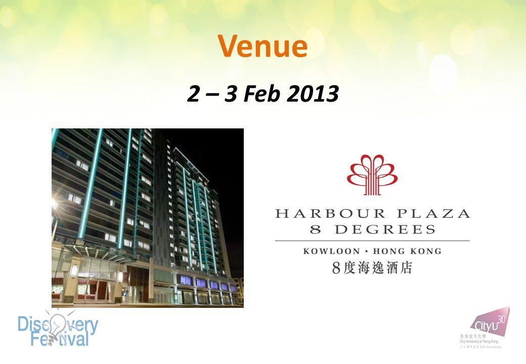 Venue 2 – 3 Feb 2013