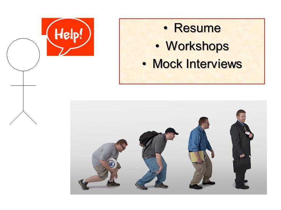 ResumeResume WorkshopsWorkshops Mock InterviewsMock Interviews