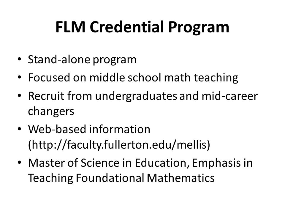 What's New with FLM at CSUF.