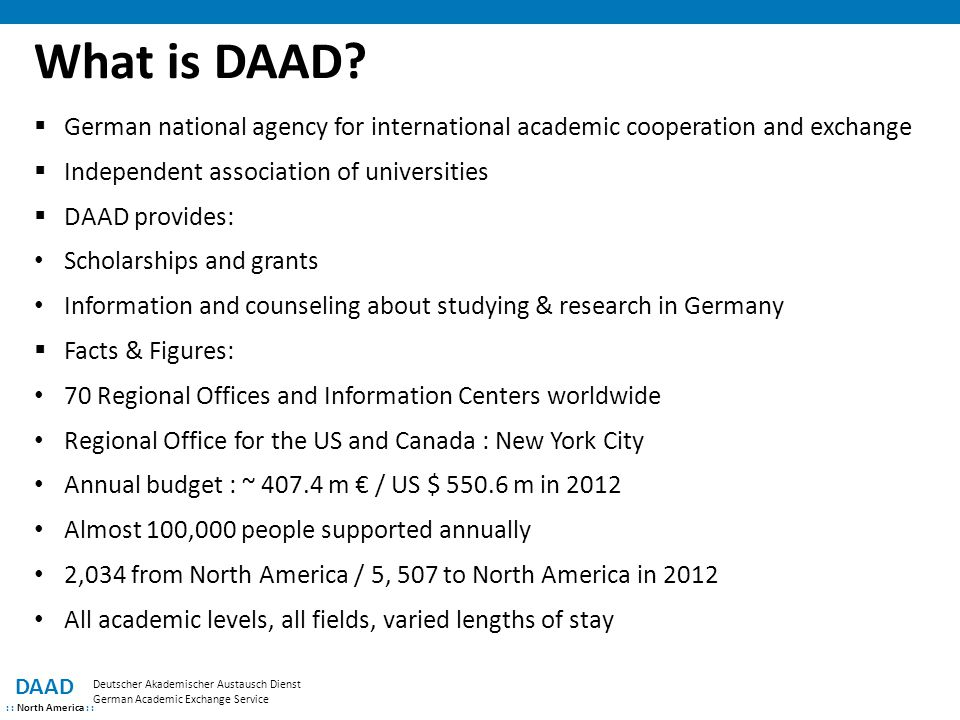 What is DAAD.