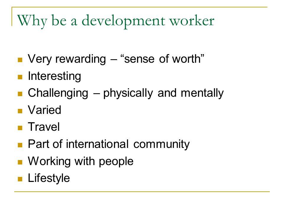 But …………… No career framework e.g.