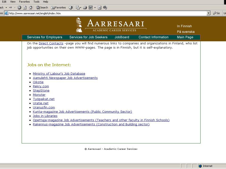 Internship Opportunities 2009