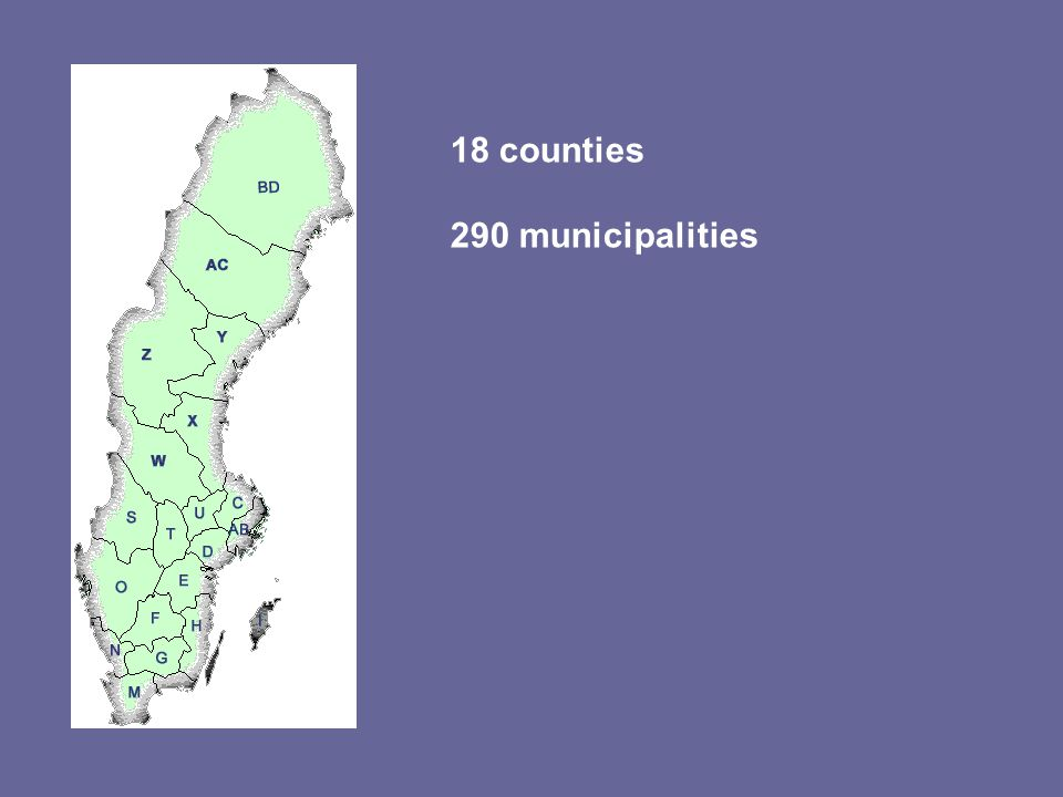 18 counties 290 municipalities