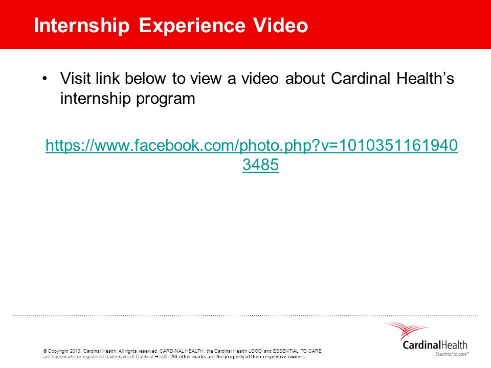 © Copyright 2013, Cardinal Health. All rights reserved.