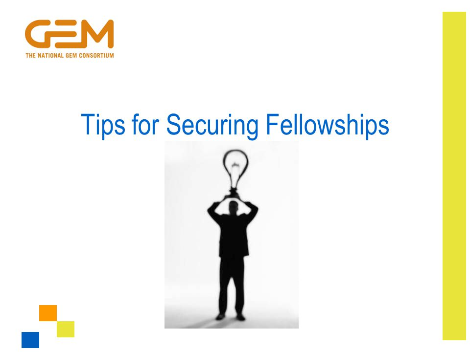 Tips for Securing Fellowships