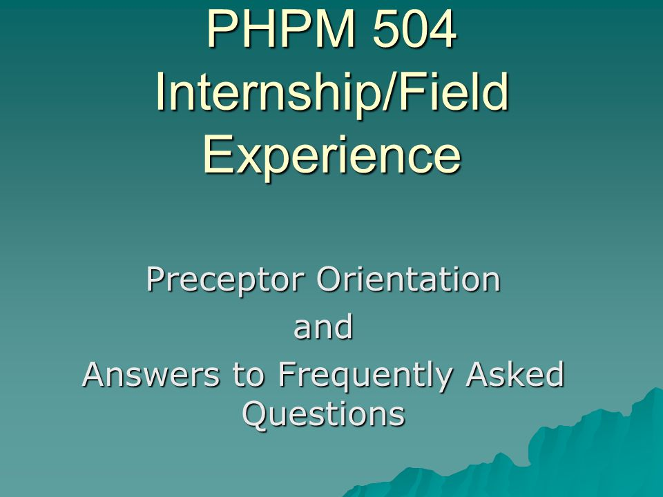 What are the minimum qualifications for Preceptors.