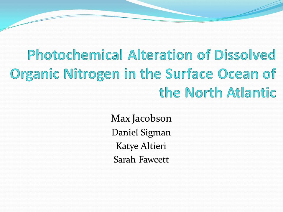 Background: A Discrepancy Sargasso sea water has <30nM ammonium Barely measurable Ammonia effluxes from the surface of the oligotrophic oceanic gyre The measured efflux is significantly higher than the efflux calculated by Henry's law (Johnson et al., 2008, Lipschultz 2001)