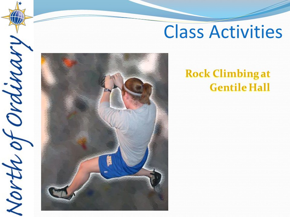 Class Activities Rock Climbing at Gentile Hall