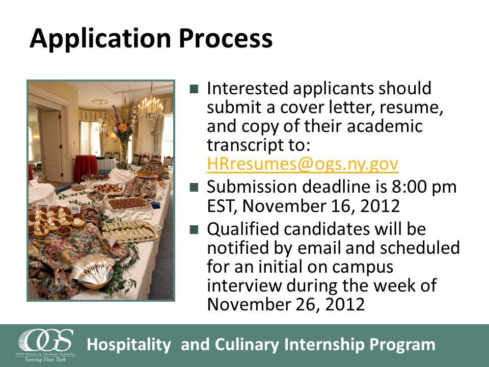 Hospitality and Culinary Internship Program Questions?