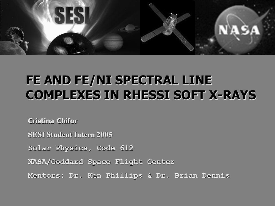 Cristina Chifor SESI Student Intern 2005 Solar Physics, Code 612 NASA/Goddard Space Flight Center Mentors: Dr.