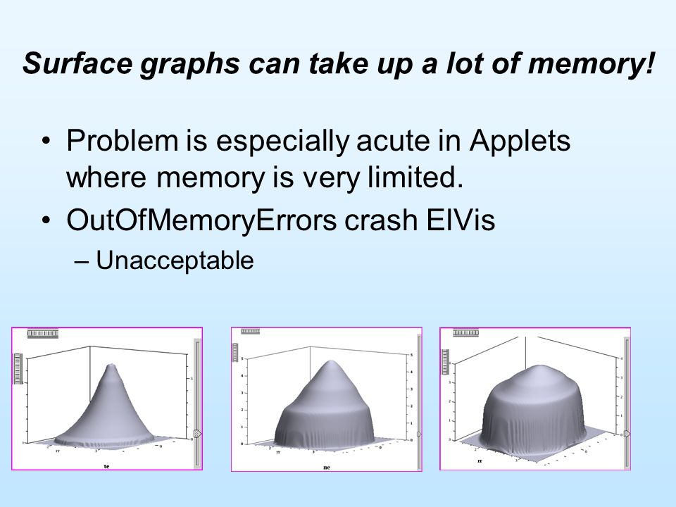 Surface graphs can take up a lot of memory.